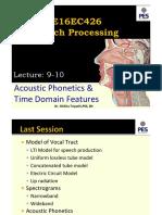 Lec9-10 Speech Processing