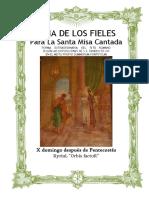 X Domingo Después de Pentecostes. Guía de los fieles para la santa misa cantada. Kyrial Orbis Factor