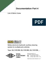 Alarm list - Gen2 - EHLA-Multi-TD Part 4 Std V0104 EN