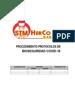 PROTOCOLOS BIOSEGURIDAD STM