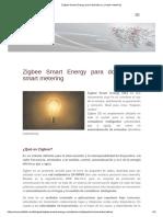 Zigbee Smart Energy Para Domótica y Smart Metering
