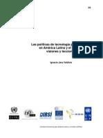 2008 Las políticas de tecnología para escuelas America Latina Mundo