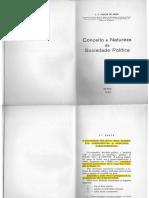 José Pedro Galvão de Sousa - Conceito e Natureza da Sociedade Política - comentado