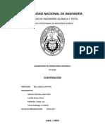 informe de evaporación