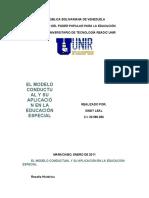 El Modelo Conductual y su aplicacion en la Educacion Especial - Sindy Leal