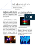 La Innovacion de la Tecnología LED en la Iluminación interior y exterior - ensayo mary