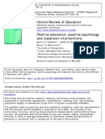 Positive education- positive psychology and classroom interventions