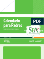 Calendario para Padres - Primero de Primaria