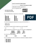 evaluación semestral 2do básico mate