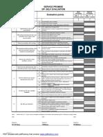 3.0 Dealer Self Evaluation Sheet - Service
