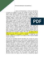CONCEPTOS DE ESPECIES Y FILOGENÉTICA