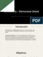 Democracia- Democracia Liberal