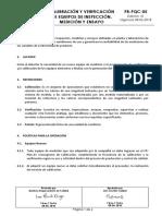 PR-PQC-05 CALIBRACIÓN Y VERIFICACIÓN DE EQUIPOS DE MEDICIÓN