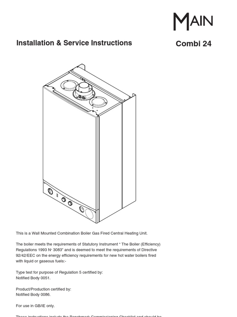 Main Combi 24 Installation Service Water Heating Valve Gas Boiler Wiring Diagram For