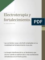 Electroterapia y fortalecimiento