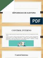 DEFICIENCIAS DE AUDITORIA EXPO