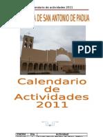calendario de actividades 2011