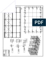 Canopy 9x18m Example Engineering Drawing Top and 3D View