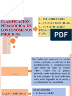 CLASIFICACIÓN PEDAGÓGICA DE LOS FENÓMENOS PSÍQUICOS (1)