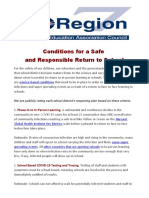 Conditions for a Safe Return Handout