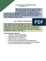 Conducting Progressive Bible Studies -from insert - half sheet
