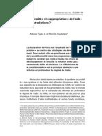conditionnalité & appropiation
