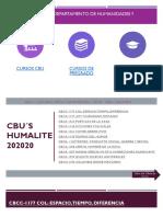 OFERTA DE CURSOS DEPARTAMENTO DE HUMANIDADES Y LITERATURA 202020 v4