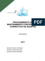 Manual de mantenimiento preventivo y correctivo de equipos-OK