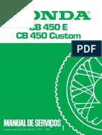 CB 450 Manual de Servicos