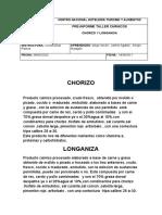 pre informe longaniza y chorizo