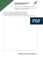 Cuadernillo Matematicas 1RO de SECUNDARIA