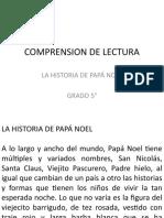 TALLER 3 COMPRENSION DE LECTURA LA HISTORIA DE PAPA NOEL
