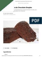 Receita de Bolo de Chocolate Simples _ Receitas Gshow _ Gshow