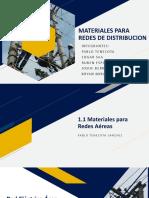 Materiales para redes aereas
