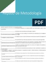 Repaso de Metodología guía 2019