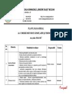 Plan Managerial Sport, Arte, Tehnologii 2016-2017