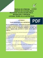 TALLER 2. IMPORTANCIA DE LA MOTRICIDAD