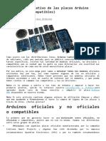 Análisis comparativo de las placas Arduino
