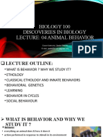 BIOLOGY 100 LECTURE 04