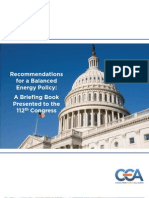 CEA 112th Congress Policy Recommendations
