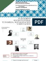 ENTORNO SOCIOCULTURAL y FAM, SOCIALIZACIÓN Y EDUC