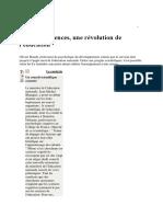 Les neurosciences, une révolution de l'éducation (O. Houdé, Le Monde 08-02-2018)