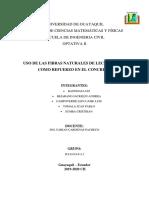 USO DE LAS FIBRAS NATURALES DE LECHUGUILLA COMO REFUERZO EN EL CONCRETO