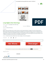 Ver Long Nights Short Mornings (2016) Online Latino HD - PELISPLUS