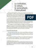 La culture (Dans Ch. Tagliante, La classe de langue, 2006)