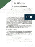 La littérature (Dans Christine Tagliante, La classe de langue, 2006)