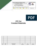 ITP For Conduit Materials