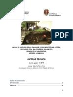 Rescate Arqueológico en calle Cerro Moctezuma, Naucalpan de Juárez