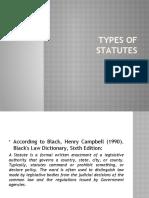 TYPES OF STATUTES