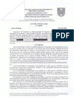 ACT DE CONSTATARE Nr. 125/21 din 02.07.2020 (Floarea Dumitriu, ex-șef a Bazei Speciale de Administrare Medicală a Agenției Rezerve Materiale a MAI) Notă